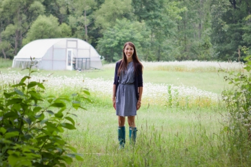 Meredith Poczontek uses organic methods on Gray Fox Farm, which she founded six years ago. She said she does not have the U.S. Department of Agriculture's organic certification because of the program's burdensome requirements.
